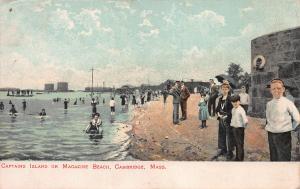 Captains Island or Magazine Beach, Cambridge, MA.,Early Postcard, Unused