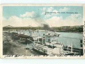 Postcard Public Landing Ohio River Cincinnati Ohio # 571A
