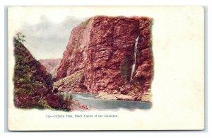Postcard Chipeta Falls, Black Canon of the Gunnison, CO embossed udb H62