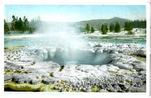 YELLOWSTONE, CRATER OF GREAT FOUNTAIN GEYSER, LOWER GEYSER BASIN, DIVIDED BACK