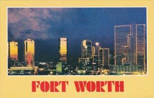 Texas Fort Worth At Night