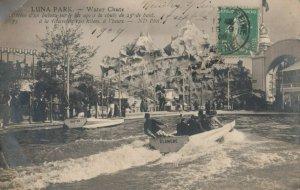 RP: PARIS, France, 1909 ; LUNA AMUSEMENT PARK - Water Chute Ride #2