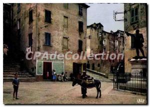 Modern Postcard Corsica Corte Place Du General Gaffory