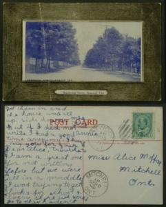 Atwood Ontario Perth County postmarked 1909 Faults