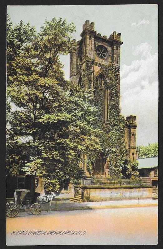 St James Episcopal Church Zanesville Ohio Unused c1910s