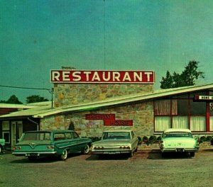 Pelham Maison Restaurant Classique Voitures Culpepper Virginia Unp Vtg Chrome