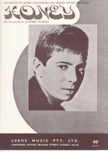 Honey Bobby Goldsboro 1960s Sheet Music