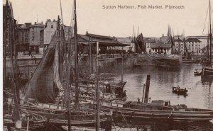 PLYMOUTH , Devon , England , UK , 1900-10s ; Sutton Harbour , Fish Market