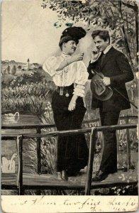 VTG Postcard Valentine Victorian 1908 Melrose St Paul Minnesota Germany 1189