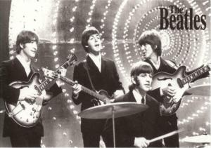 The Beatles in 1966 on Top of the Pops Modern Postcard #1
