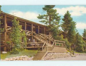 Pre-1980 LODGE SCENE Rocky Mountain National Park Colorado CO J7748