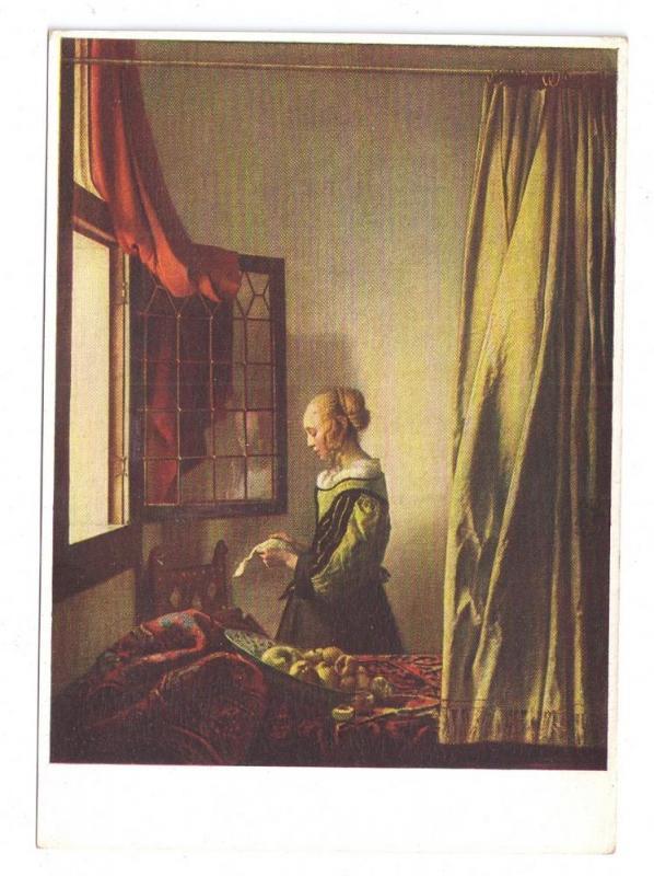 Vermeer Painting Lesendes Madchen Girl Reading Dresden