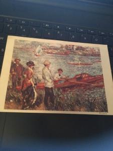 Vtg Postcard: Auguste Renoir, Rameurs a Chatou