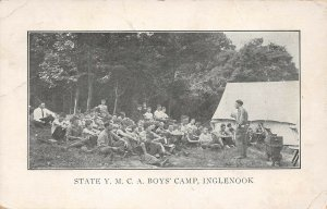 LPS39 Halifax Pennsylvania State Y.M.C.A. Boys' Camp Inglenook Postcard