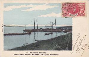 DAHOMEY . PU-1912 , Appontement de la Cie du Wharf-La Lagune de Cotonou