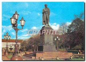 Postcard Modern Moscow Statue of AS Pushkin