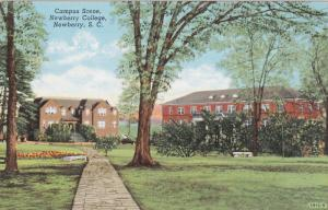 NEWBERRY, South Carolina; Campus Scene, Newberry College, 30-40s