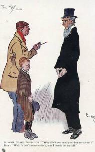 Comic - Series 1771 - School Board Inspector     Artist Signed: Phil May