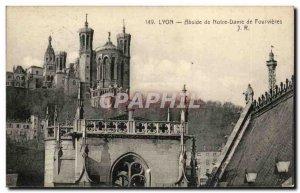 Lyon Old Postcard Apse of Notre Dame de Fourvière