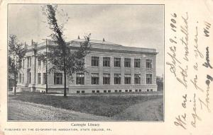 State College Pennsylvania Carnegie Library Exterior Vintage Postcard JE228343