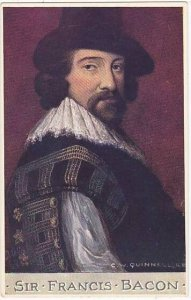 Sir Francis Bacon Tuck Oilette Men Of Letters Series