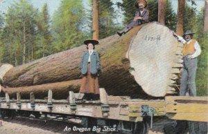 Oregon An Oregon Big Stick Giant Log On Railway Car sk4108