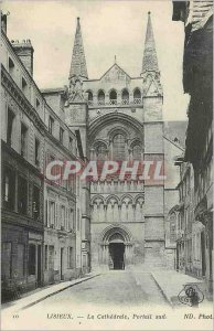 Old Postcard Lisieux La Cathedrale South Portal