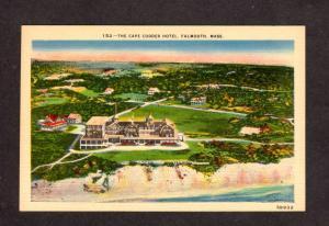 MA The Cape Codder Hotel Motel Falmouth Mass Massachusetts Postcard