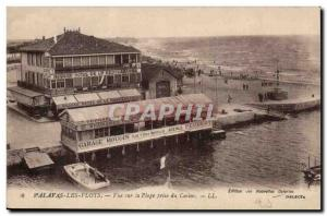 Palavas Old Postcard Beachfront taken from the casino (Garage Mougin Peugeot ...