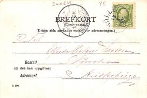 Sweden Old Vintage Antique Post Card Halsning fran Kullen 1905