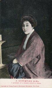 Japan , 1908 ; A Christian Girl