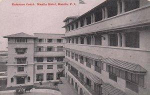MANILA, Philippine Islands,1900-10s; Entrance Court, Manila Hotel