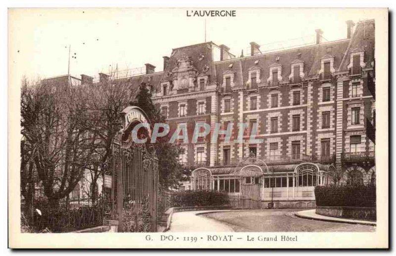 Old Postcard Royat Grand Hotel
