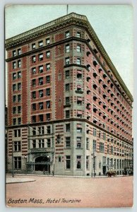 Boston Massachusetts~Hotel Touraine~Windows Open~Curtains Blow~c1905 Postcard