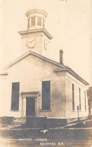Rushford New York~Baptist Church~Clock Cupola~Played Here 40 Years~1920 RPPC