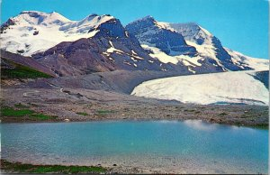 Mt Athabasca Canada Columbia Ice Fields Jasper-Banff Highw Postcard unused 1960s