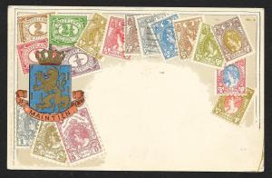 NETHERLANDS Stamps on Postcard Used c1910-1930