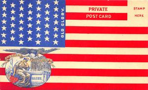 Canada Memorabili s State of Maine U. S. Navy Old Glory Flag Postcard