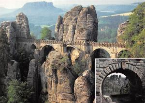 Elbsandsteingebirge Die Basteibruecke, Hauptanziehungspunkt Landschaft Bridge