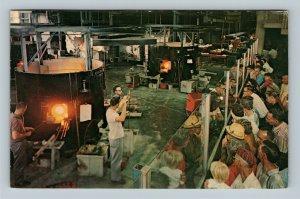 Corning Glass Center, Blowers, Steuben Crystal, Chrome New York c1971 Postcard