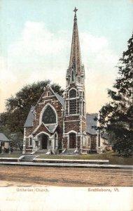 Unitarian Church, Brattleboro, Vermont 1906 Vintage Postcard