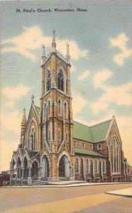 12101 MA Worcester 1940's  St. Paul's Church