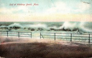 Massachusetts Surf At Winthrop Beach 1906