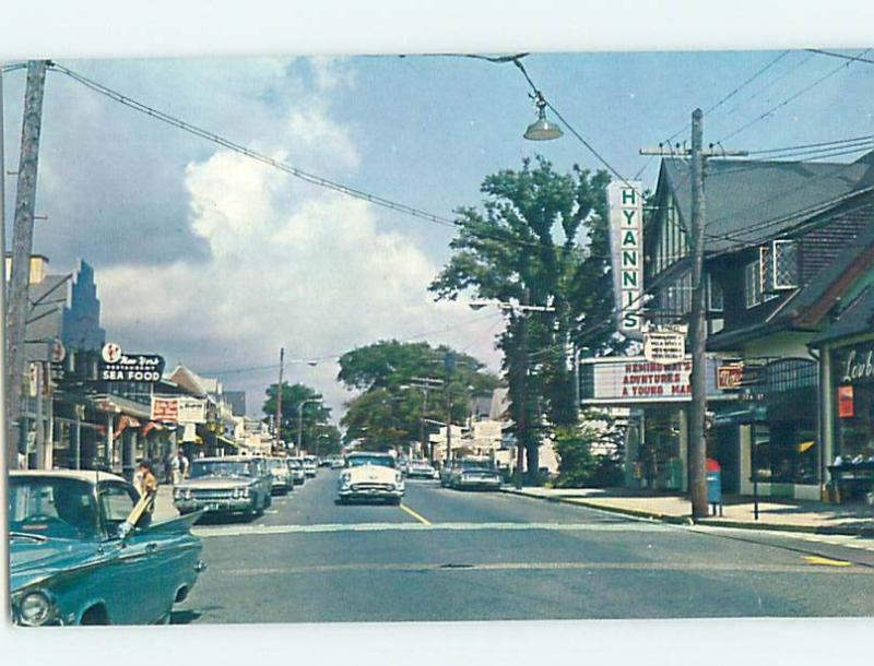 Unused Pre-1980 SHOPS ALONG STREET Cape Cod - Hyannis Massachusetts MA G4795
