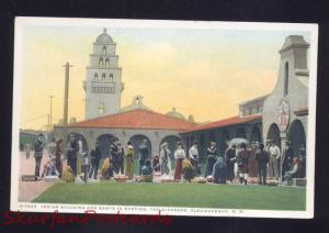 ALBUQUERQUE NEW MEXICO FRED HARVEY SANTA FE RAILROAD DEPOT VINTAGE POSTCARD