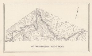 MAP ; Mt Washington Auto Road , New Hampshire , 1930s