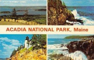 ACADIA NATIONAL PARK Maine Bass Harbor Lighthouse 1974 Vintage Postcard