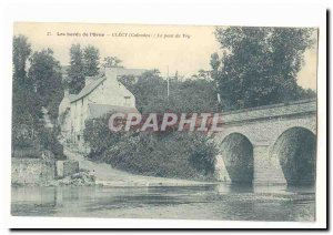 The Banks of the & # 39Orne Clecy Old Postcard THE Bridge Vey