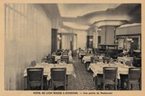 Soissons Hotel Du Rouge Lion French Old Postcard