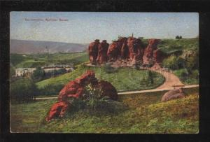 068938 CAUCASUS Kislovodsk Red stones Vintage PC